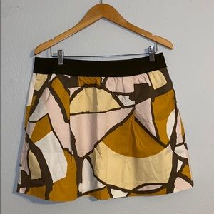 Pull-on Abstract Skirt (with pockets!)